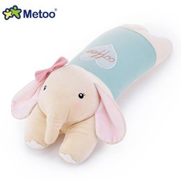Wholesale Hold Boy - Wholesale-New arrival famous brand Metoo lie prone elephant plush hold pillow use for home and office for boys and girls top quality