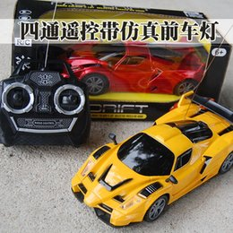 Wholesale Radio Controlled Goods - Wholesale- 1pcs 4CH Good Quality 1:24 Hot RC Car children electronic radio control rc Cars electric toy Gift models Fun Interactive Toys