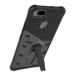 Wholesale Choice Films - For XiaoMi 5X Phone Good Quality Hybrid Armor Case With Stand Shockproof + Tempered Glass Protector Film For Choice Real Track