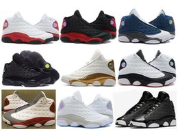 Wholesale Chicago 13 - High Quality 13 13s Chicago DMP Bred Playoffs Bordeaux Basketball Shoes Men Black Cat He Got Game Flint Hyper Pink Sneakers With Box