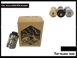 Wholesale Lava Vapor Cigarette - Authentic Coolvapor Lava RTA Atomizer Cool Vapor Lava Tank with 3ml   Top Filling   Bottom Adjustable Airflow for E Cigarette free DHL