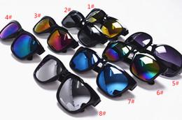 Wholesale Trend Reflective Lenses - 2017 new color film sunglasses women bright reflective sunglasses fashion trend outdoor sunglasses DO26