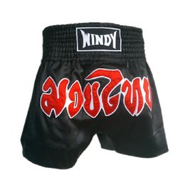 Wholesale Muay Thai Pants - Windy sanda play game competition training shorts embroidered Muay Thai boxing pants shorts MMA