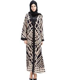 Wholesale Fashion Malaysia - New Fashion Muslim Abaya Dress Printing Long Dresses Malaysia Turkish Islamic Women Dubai Hijab Evening Dress