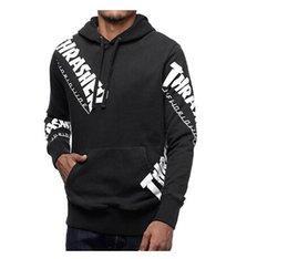 Wholesale Thick Winter Sweaters Men - Winter warm men hoodies Letter Print Pullover Men hoodie Sweatshirt PALACE sweater