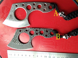 Wholesale Microtech Knife Fixed Blade - New small fixed blade claw karambit knives knife with Skull head ,claw karambit knives,microtech knives(2 styles)