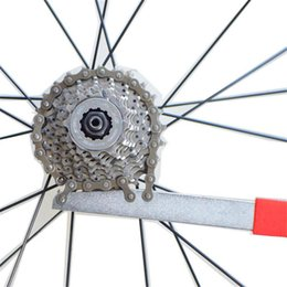 Wholesale Cycling Road Wheels Carbon - Carbon Steel MTB Road Bike Bicycle Cycling Wheel Chain Whip Cassette Sprocket Remover Tool Bicycle Chain Wheel Repair Tool Free Shipping