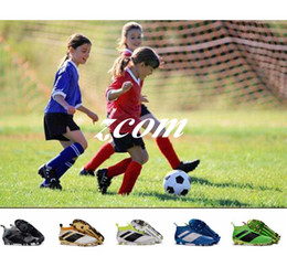 Wholesale Soccer Shoes For Youth - 2017 Children Ace 16+ Purecontrol Soccer Cleats FG Kids Soccer Shoes Trainers Youth Ace 16 Boy Girl Football Boots For Woman With Box