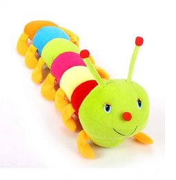 Wholesale Caterpillars Plush - Wholesale- new 50cm Baby Toys Colorful Caterpillars Millennium Bug Doll Plush Toys Kids Large Caterpillar Hold Pillow Doll toys for baby