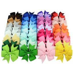 2019 import de cheveux en gros 50 pcs haute qualité ruban gros-grain arcs pour cheveux arcs, accessoires de cheveux pour enfants, bébé hairbows fille arcs de cheveux avec clip livraison gratuite
