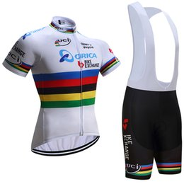 Wholesale Bicycle Wear Orica - 2017 uci team orica cycling jersey 3D gel pad bike shorts Ropa Ciclismo quick dry team bicycling wear mens summer bike Maillot Suit