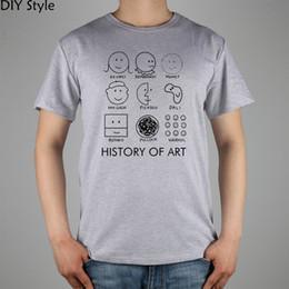 Wholesale Cotton Lycra Shirts Wholesale - Wholesale- Picasso, Monet, Da Vinci Art History T-shirt cotton Lycra top 11073 Fashion Brand t shirt men new DIY Style high quality
