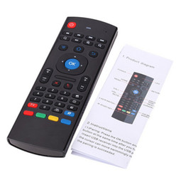 Wholesale Android Tv Box Remote Combo - X8 MX3 Mini Wireless Keyboard Air Mouse Remote G Sensing Gyroscope Sensors Combo MX3-M For S905X S905 S912 MXQ Android TV BOX
