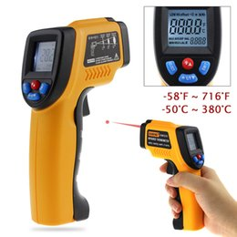 Wholesale Infrared Ir Laser - Infrared Thermometer Non-Contact Laser LCD Display IR Infrared Digital Pyrometer laser Outdoor thermometer Gun For Industry Home Use +NB