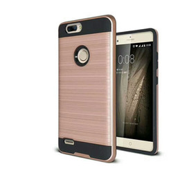 Wholesale Cases For Zte - Hybrid Daul Layer Brushed Armor Case Cover for ZTE Sequoia ZMax Pro 2 Z982 prestige 2 N9136 WArp 7 n9519 Alcatel Fierce 4 Stellar 100PC YY