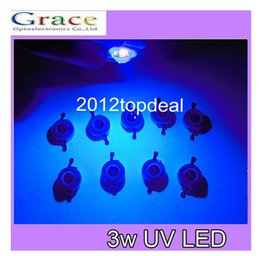 Wholesale 3w Uv - Wholesale- 50pcs 3W High Power LED UV Light Chip 395-400nm Ultra Violet not pcb for DIY