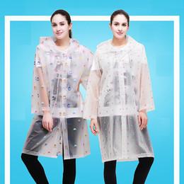 Moda, chubasquero largo, EVA, ropa de lluvia espesa, abrigo de lluvia universal, poncho a prueba de agua, excursión a pie, chubasquero (2 tallas) desde fabricantes