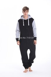 Wholesale Nordic Men - Wholesale- nordic way onesie hoodies fleece all in one piece jumpsuit unisex playsuit comfy romper for man