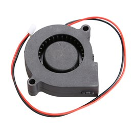 Wholesale Dc Cooling Blower Fan 12v - New Black Brushless DC Cooling Blower Fan 2 Wires 5015S 12V 0.14A 50x15mm