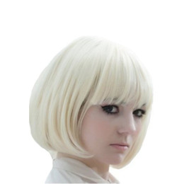 Wholesale Short Blonde Party Wig - New Fashion Women Short Blonde Bobo Wigs Synthetic Wigs Party Costume Full Wigs