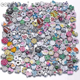 Pulseira para encantos de deslizamento on-line-New Arrvials Wholesale 8mm size Slide Rhinestone charms DIY slide accessories charms for DIY snaps bracelets belts