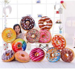 Wholesale Pillow For Massage - 10PCS Christmas Gift doughnut Hamburger Cushion Emoji pillows lovely Cute plush toys doughnut Cushion for girl