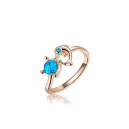 Wholesale Woman Ring Design Gemstone - Diamond Wedding Rings Rose Gold Gemstone Rings Dolphin Design Auden Diamond Finger Rings for Women Girl 2010548056