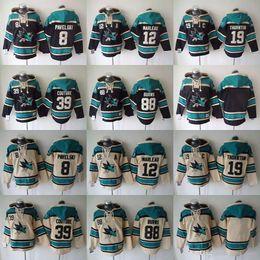 Wholesale Couture Hoodie - NHL San Jose Sharks hoodies cheap hockey jerseys hoody Sweatshirts PAVELSKI#8 BURNS#88 MARLEAU#12 THORNTON#19 COUTURE#39 Black Cream