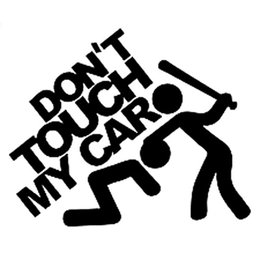 Wholesale Orange Motorcycle Accessories - 15CM*12.5CM Don't Touch My Car Sticker JDM Slammed Funny Decals Motorcycle Car Styling Accessories