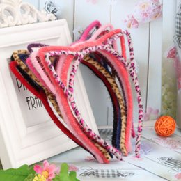 Wholesale Sexy Self Photo - Wholesale- Hot Saling!!Sexy Leopard Colors Hair Accessories Cute Cat Ear Women Hairband Small Cat Headwear For Women Self Photo Scrunchy