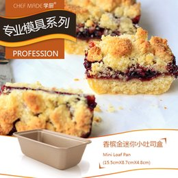Wholesale Mini Loaf - Wholesale- Chef Made Mini Toast Box Baking Pan Bakeware Bundt Cake Moldes Para Pan Cake Mold Cake Molds Pans Home Baking Bakplaat Bakpan