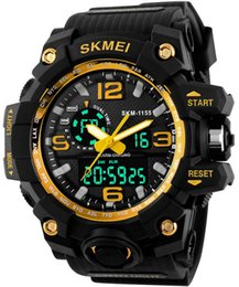 Wholesale Outdoor Watch Faces - 2017 Summer Outdoor Sports Watches LED Digital Wristwatches S Shock Classic Waterproof Mens Fitness Swimming Running Popular Black Big Face