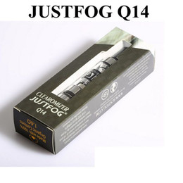 Wholesale Ego Clearomizer Liquid - 100% Original JUSTFOG Q14 Atomizer 1.8ml e-Liquid Capacity Bottom coil clearomizer with eGo   510 Connection DHL Free Shipping
