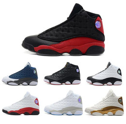 Wholesale Sneakers 13 - High Quality Retro 13 Bred Chicago Flints Men Women Basketball Shoes 13s DMP Grey Toe History Of Flight All Star Sneakers With Box