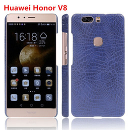 Wholesale Huawei Ascend Honor Cases - Crocodile PU Huawei Ascend mate luxury case Mobile phone cover for Huawei Honor V8 PC shell