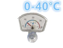 Wholesale Oval Fish Tanks - 200pcs lot by dhl fedex mini Waterproof Aquarium Fish Tank Submersible Oval Shape Dial Index Thermometer with Suction