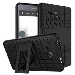 Wholesale Cover For Galaxy Tab3 - FOR Samsung Galaxy Tab E T560 A 10.1 T580 9.7 T550 Tab S2 T810 TAB S3 9.7 Hybrid KickStand Impact Rugged Heavy Duty TPU+PC Cover Case 20