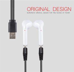 Wholesale Mini Usb Ear - 2017 HBQ i7 TWS Twins True Wireless Earbuds Mini Bluetooth V4.2 DER Stereo Headset Sports Headphone For iPhone 7 Galaxy S8 6S