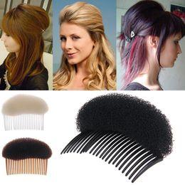 Wholesale Wholesale Coffee Accessories - Black Beige Coffee Woman Lady Vogue Hair Styling Clip Stick Bun Maker Braid Tool Hair Accessories