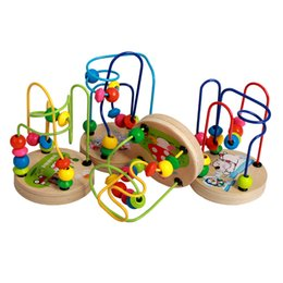 Wholesale Toy Mushrooms Kids - Baby game Toy Early Childhood Learning Wood Toy Children Kid Baby Colorful Farm Amusement Park Mushrooms Polar bear Wooden Mini Around Beads