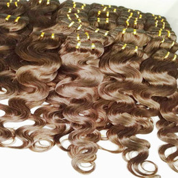 Wholesale Human Hair Weave Bulk - 20pcs lot 1 klilo Wholesale Bulk Price Color #2 Brown Hair Extensions Brazilian Human Hair Weft Seaon Promote