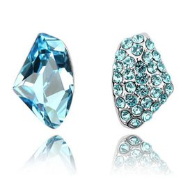 juegos de regalo de cristal swarovski Rebajas Crystal Stud Pendientes Moda Diamante Stud Pendientes Joyería de DHL Conjunto Rhinestone Joyería de la boda Conjunto Boda Swarovski Element Regalo de Navidad