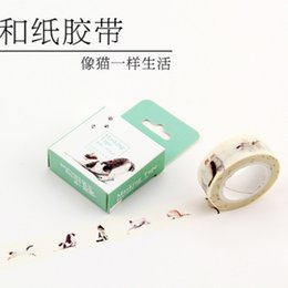Wholesale Multicolour Paper - Wholesale- 2016 Free shipping Paper tape multicolour vintage decoration label photo album shredded paper wrapping labeling diary masking t