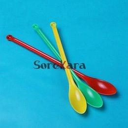 Wholesale Chemistry Experiments - Wholesale- 3pcs 14.5cm Plastic Medicinal Spoon Ladle Chemistry Experiment Pharmacy Lab Use
