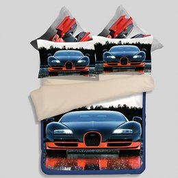 Wholesale girls comforter covers - 3 4pcs Bedding Sets Cartoon car Bed Set Duvet Cover Bed Sheet Pillowcase Soft and Comfortable queen twin king full size Boy girl gift