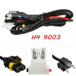 Wholesale Hid H4 Cables - 2015 New For HID Hi Lo Bi-Xenon Bulb Relay Controller Wiring Cable Harness H4 9003 Type