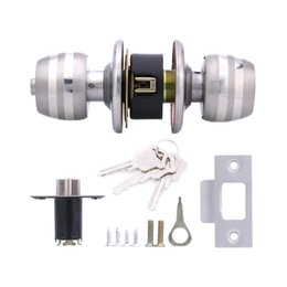 Wholesale Privacy Door Locks - Lowest Price Home HF-Q-02 Stainless Steel Brushed Round Ball Privacy Door Knob Set Handle Lock Door Knob Lock 60# for Door Bedroom