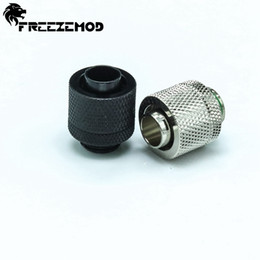 Wholesale Cool Compression - Wholesale- 4pcs QYFREEZE Brass hand compression fitting G1 4'' external thread for 9.5X12.7mm tube computer water cool.RGKN-J38
