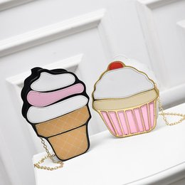 Wholesale Cheap Patchwork Handbags - 2017 ice cream shaped and cake shaped handbags women designer bags with long metal chains crossbody shoulder bags totes bags cheap price