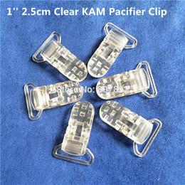 clips für dummies großhandel Rabatt Großhandels-50pcs 1 '' 25mm freier transparenter KAM Plastikbaby-Schnuller-Schnuller-Schnullerhalter-Ketten-Klipp-Hosenträger-Klipp für 2.5cm Band